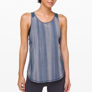 Lululemon Sculpt Tank Top Marbled Blue II Size 4